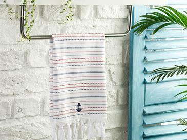 Stripe Anchor Кърпа За Изсушаване Памучен 40x60 Бяло