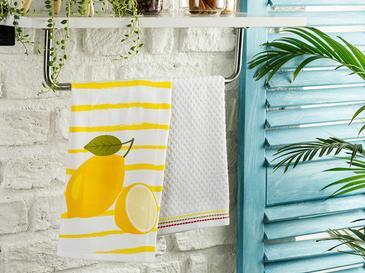 Lemon Кърпа За Изсушаване 2 Броя Памучен 40x60 Жълто