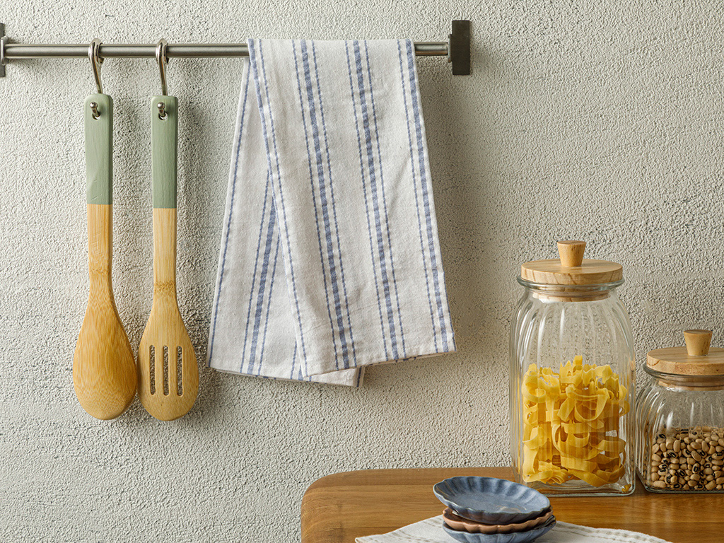 Softy Stripe Cotton Dryıng Cloth 40x60 Cm Blue