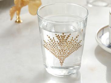 Weensy Чаша за Вода 6 Бр. Стъкло 120 ml Златисто