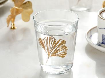 Водна Чаша 6 Броя Заедно С Кафето Стъкло 12,9x12,5x2,3 Cm Злато