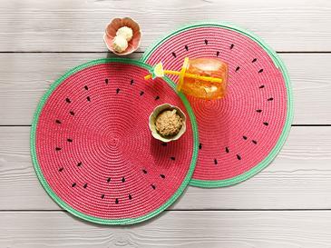 Watermelon Подложка за Хранене 2 Бр. 38 Cм Червено