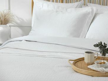 Nature Покривка Комплект За Двама Жакардово Тъкано 2000w Бяло
