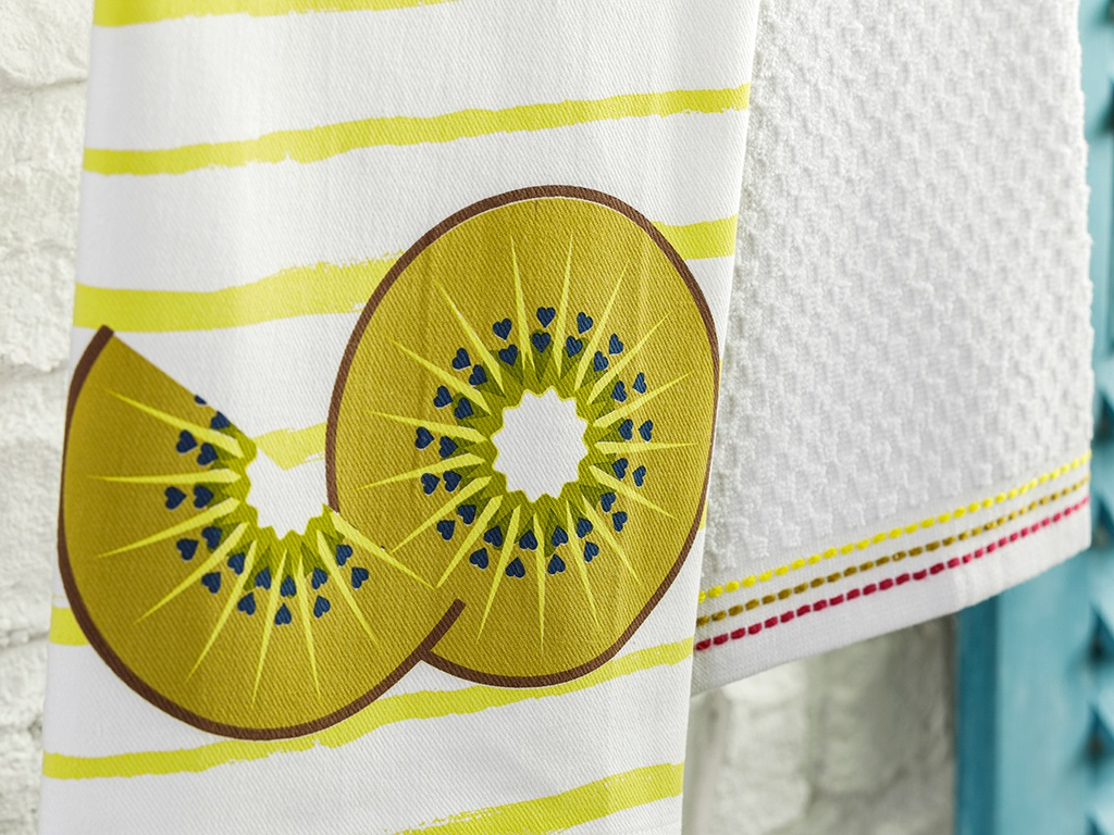 Cotton 2 Set Dryıng Cloth 40x60 Cm Kiwi Green
