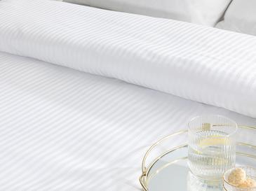 1 Cm Çizgili Спално Бельо Единични Памучен Сатен 14,8x21,0 Cm Бяло