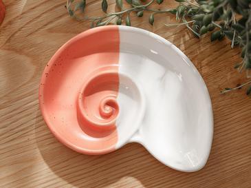 Shell Декоративна Чиния 14x10,5x2 Cm Оранжево
