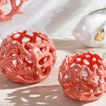 Coral Декоративен Предмет 13x13x10 См Оранжево