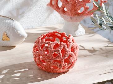 Coral Декоративен Предмет 11,3x11,3x8 См Оранжево