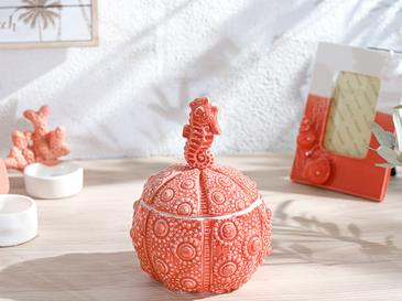 Seahorse Декоративна Кутия 11,7x10,6x15,2 См Оранжево