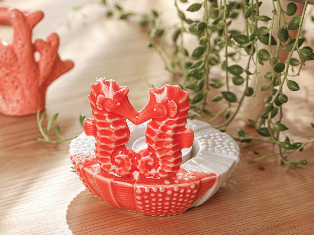 Seahorse Декоративна Чиния Оранжево