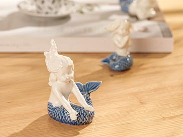 Mermaid Декоративен Предмет 8,3x3x7 См Синьо