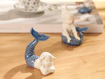 Mermaid Декоративен Предмет 8x4,5x7 См Синьо