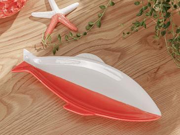 Marine Декоративна Чиния 25,4x10,5x2 Cm Оранжево