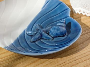 Sea Star Декоративна Чиния Синьо