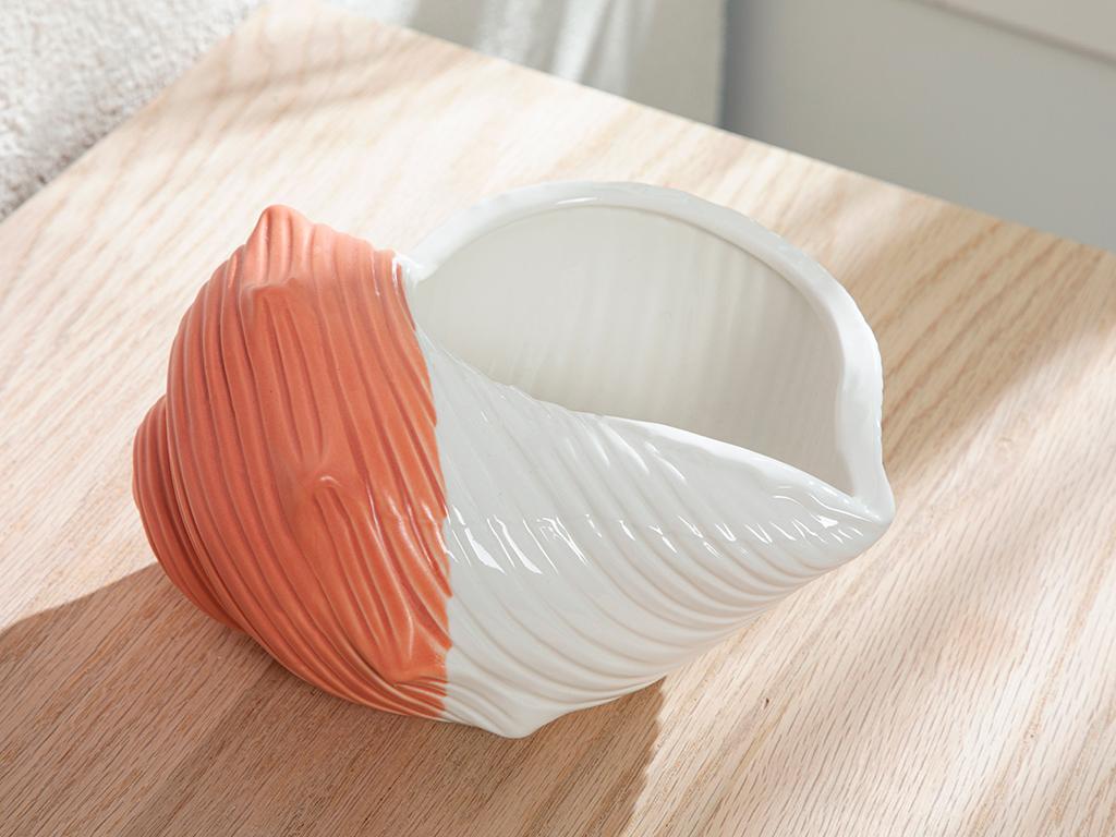 Seashell Декоративен Предмет 19,5x16,1x10,5 См Оранжево