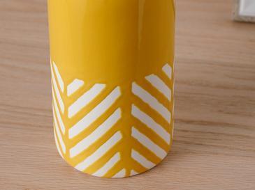 Bottle Ваза 8.8x8.8x20.5 Cm Жълто