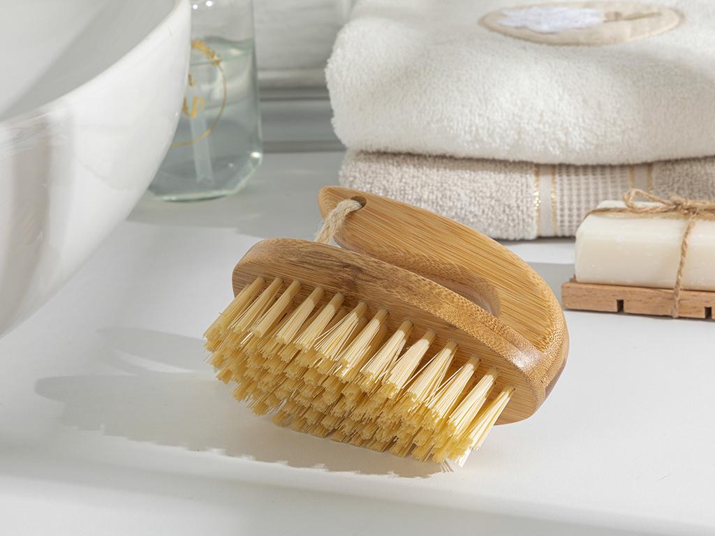 Allure Bamboo Cleanıng Brush Kahve