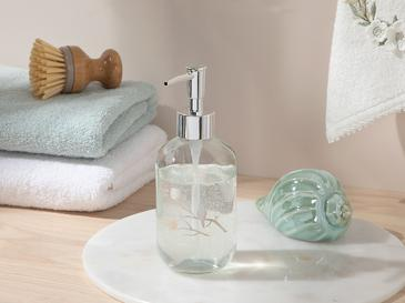 Birdy Cam Banyo Sıvı Sabunluk 7,2x18,5 Cm Gümüş