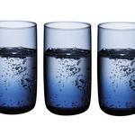 Blue Nature Чаша За Безалкохолно 3 Броя Стъкло 365 Ml Синьо