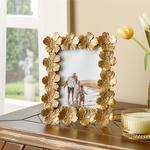 Flowers Frame Gold