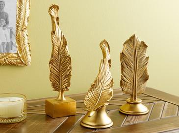 Feathers Декоративен Предмет 19.2x8x24.9 cm Златисто