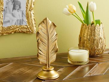 Banana Leaf Декоративен Предмет 8x8x21.4 cm Златисто
