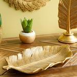 Banana Leaf Decoratıve Plate Gold