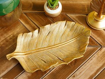Banana Leaf Декоративна Чиния 15.8x28.9x2.6 cm Злато