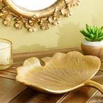 Gingko Decoratıve Plate Gold