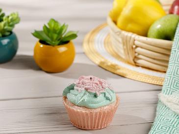 Cupcake Cafe Свещ 7x7x7 cm Розово