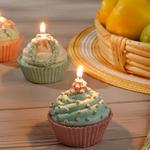 Cupcake Свещ 7x7x7 Cm Кремаво