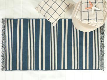 Modern Stripe Килим Памучен 120x160 Cm Индиго