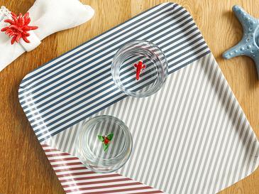 Line Табла Меламин 33x30 Cm Червено-бяло-тъмносиньо