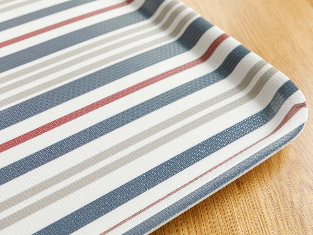 Rope Melamine Tray 33x30 Cm Red - White - Dark Blue