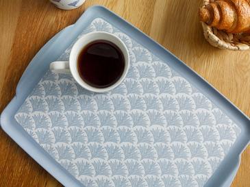 Табла Против Хлъзгане Меламин 25,5x2,5cm Бяло-синьо