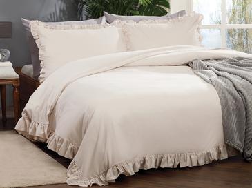 Donna Комплект Спално Бельо King Size 240x220 См Кремаво