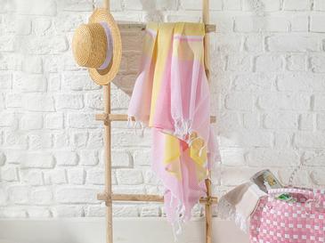Royal Stripe Пещемал Памучк 95x165 См Розово-Жълто