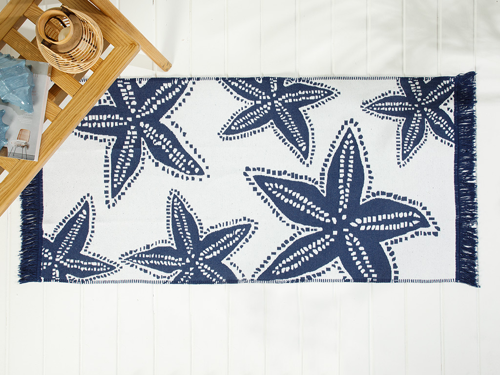 Sea Star Weaved Rug 120x180 Cm. Lacivert