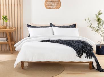 Moderna Комплект Спално Бельо Единичен Размер 160x220 См Бяло