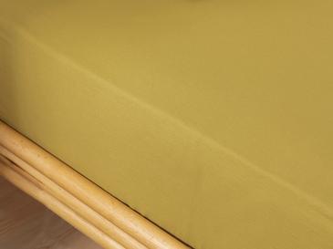 Plain Комплект Чаршафи с Ластик Единичен Размер 100x120 См Цвят Киви