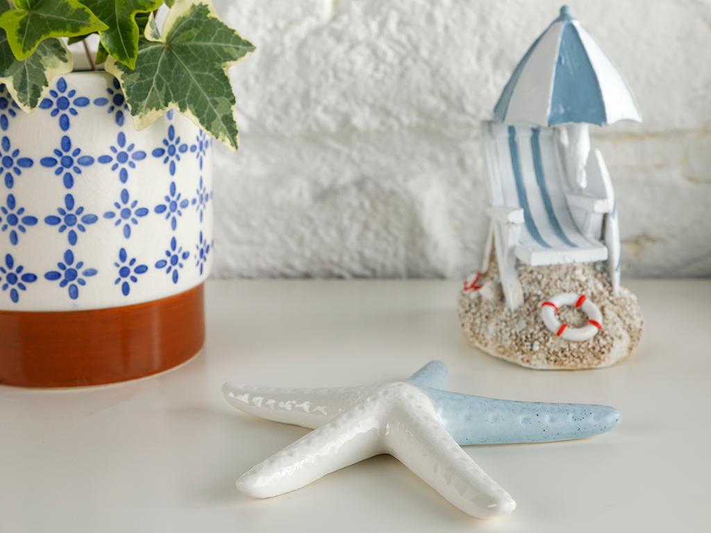 Sea Star Декоративен Предмет 11,6x11,6x1,5 См Синьо