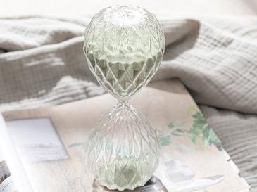 Bright Пщсъчен Часовник Стъкло 8x8x20 cm Зелено