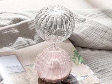 Pumpkin Пясъчен Часовник Стъкло 10x10x20 Cm Розово