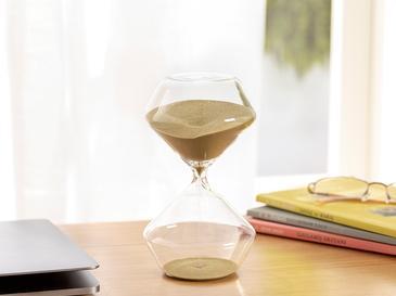 Fancy Пясъчен Часовник Стъкло 9,5x9,5x17,5 cm Златисто