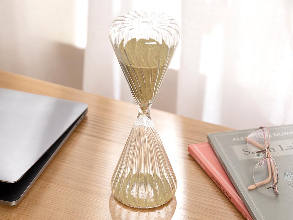 Casey Glass Hourglass 8x8x23 Cm Gold