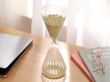 Casey Пясъчен Часовник Стъкло 8x8x23 Cm Златисто