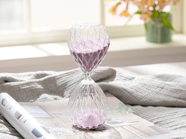 Bright Пщсъчен Часовник Стъкло 8x8x20 cm Лилаво