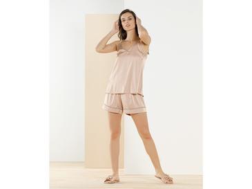 Smooth Solid Комплект Дамска Пижама L Нюд