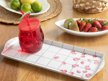 Strawberry Табла Правоъгълно Меламин Бяло-червено