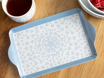 Табла Правоъгълно Меламин 7x9x22 Cm Бяло-синьо
